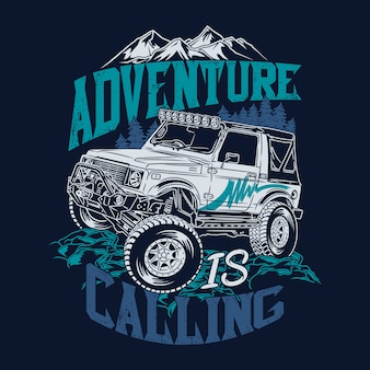 Adventure is calling offroad quotes saying adventure explore