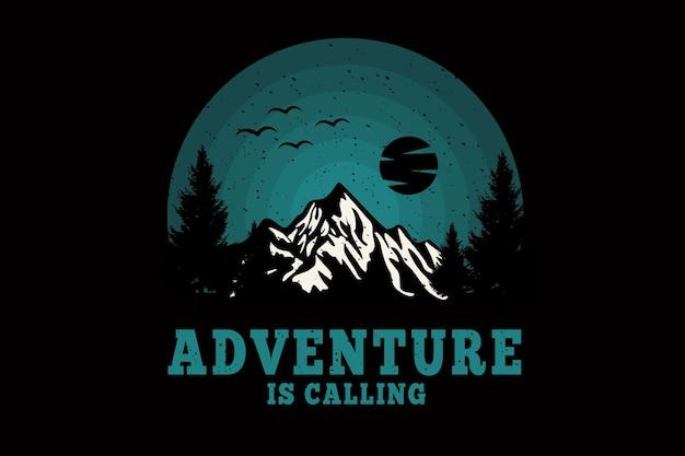 Adventure is calling silhouette design