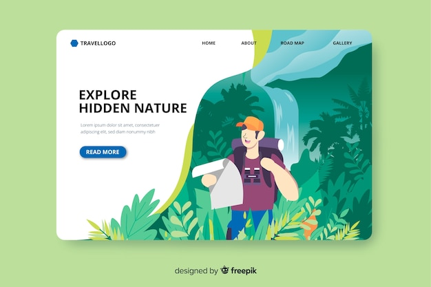 Adventure in jungle landing page