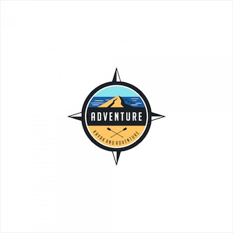 Adventure and kayak emblem logo