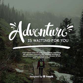 Adventure lettering with photo