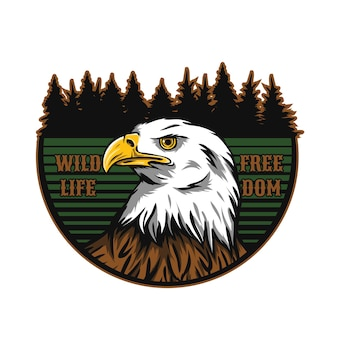 Adventure logo with eagle mascot character