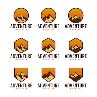 Adventure mountain logo pack