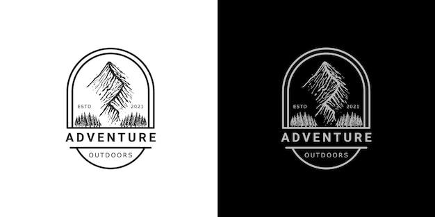 冒険屋外ロゴデザインテンプレート