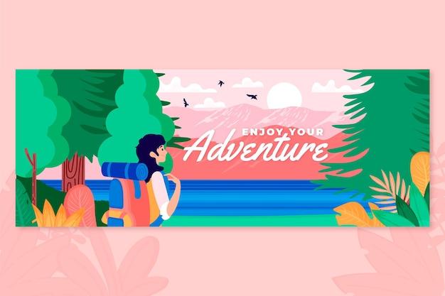 Adventure social media cover template