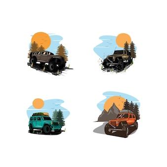 Adventure sport set illustration
