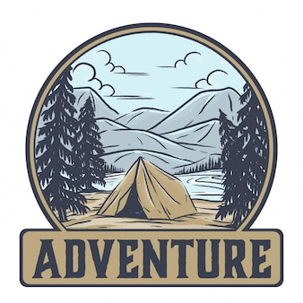 Adventure in a tent
