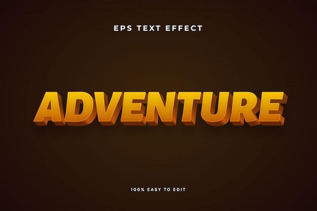 Adventure text effect