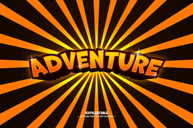 Adventure text style for game title