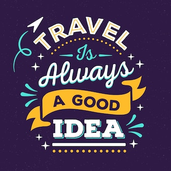 Adventure/travel lettering background
