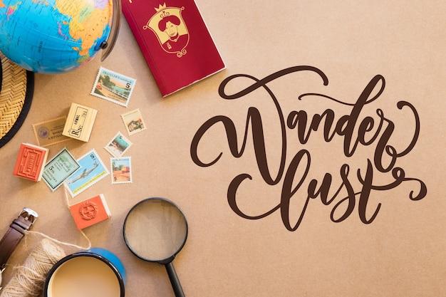 Adventure travel lettering
