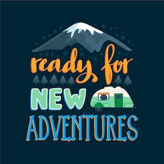 Adventure travel lettering