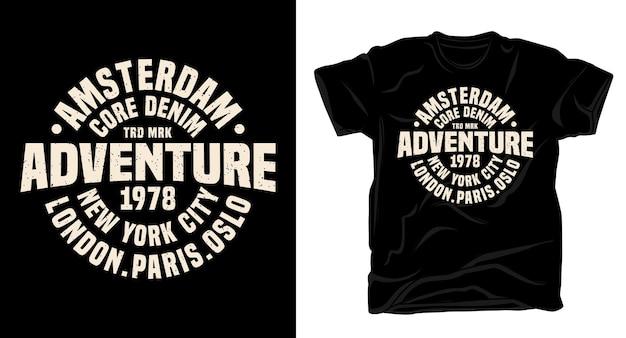 Приключенческая типография для дизайна футболки