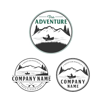Adventure and vacation rental logo design, outdoor logo