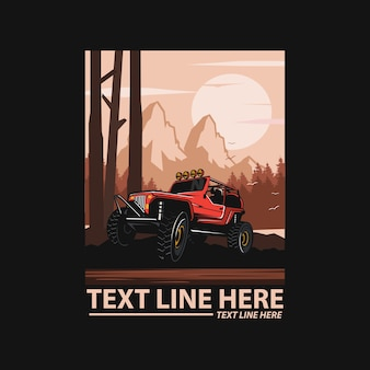 Adventure, vector car illustration