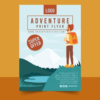 Adventure vertical flyer template