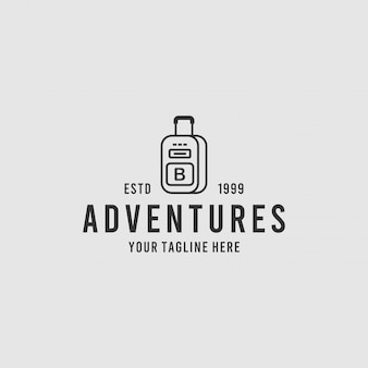 모험 가방 미니멀리스트 로고 디자인 영감