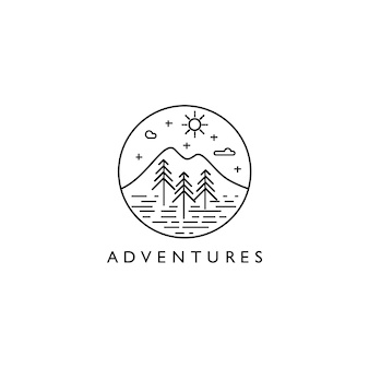 Adventures monoline landscape logo