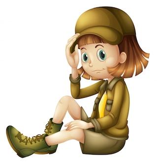A adventurous girl