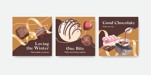 초콜릿 광고 템플릿