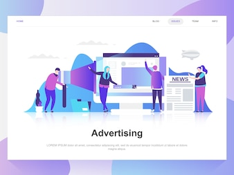Advertising and promo modern flat design concept.