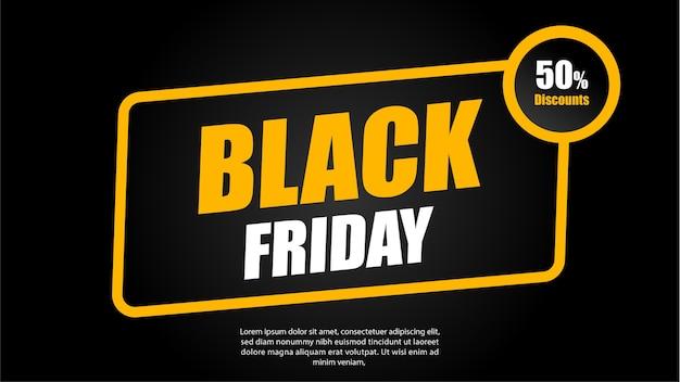ブラックフライデープロモーションキャンペーンの広告アート。 Premiumベクター