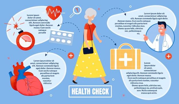 Advertising banner, inscription health check.