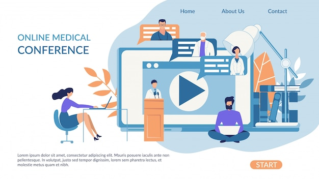 Advertising banner online medical conference.