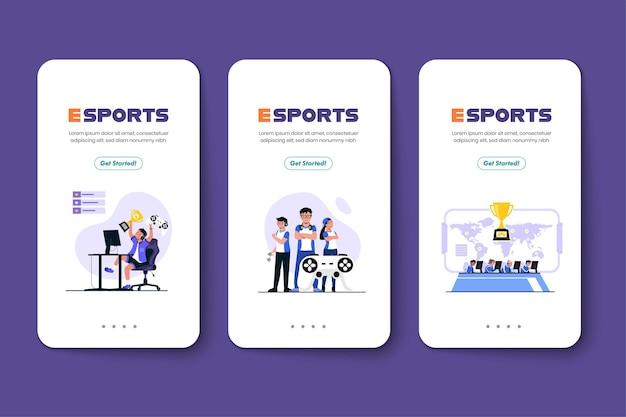 E 스포츠 팀이 매년 큰 토너먼트에 잠복하도록 초대하는 광고 배너 트로피와 상금이 상대 팀을 상대로 이길 수있는 경우 e 스포츠 선수를 기다립니다.