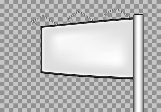 Advertising billboard vector mockup