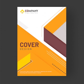 Advertising cover design