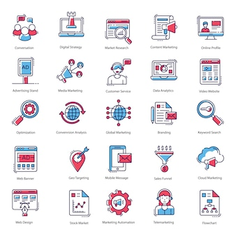 Advertising icons pack