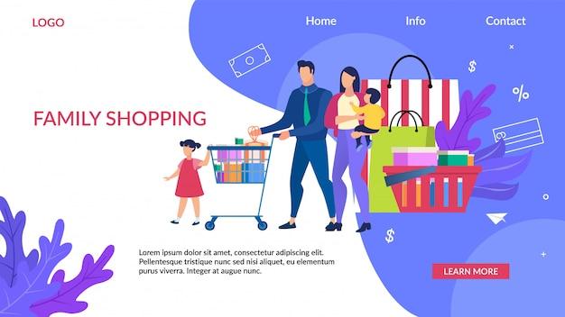 Advertising  inscription family shopping.