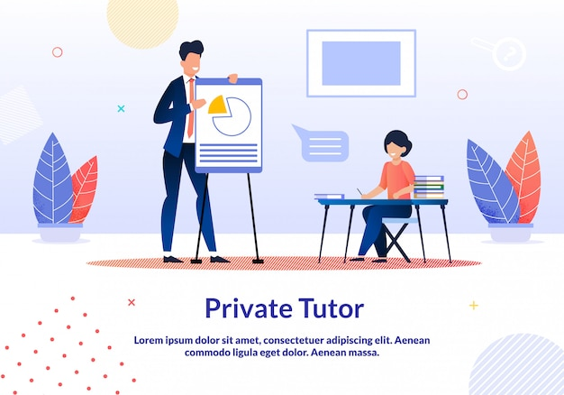 Advertising is written private tutor flat template