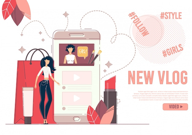 Advertising new beauty fashion banner