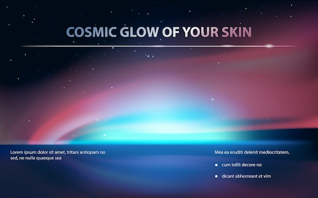 Advertising poster for cosmetic product