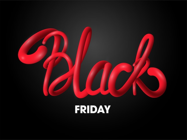 Advertising poster design with black friday text on dark background