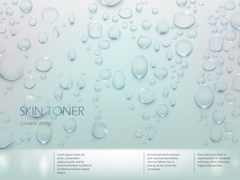 Advertising poster for skin toner