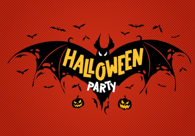 Advertising poster halloween party