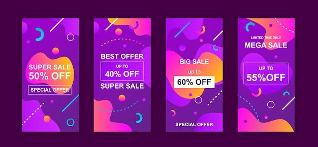 Рекламная распродажа дизайн социальных сетей instagram рассказы шаблон