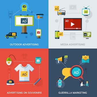 Advertising set isolated