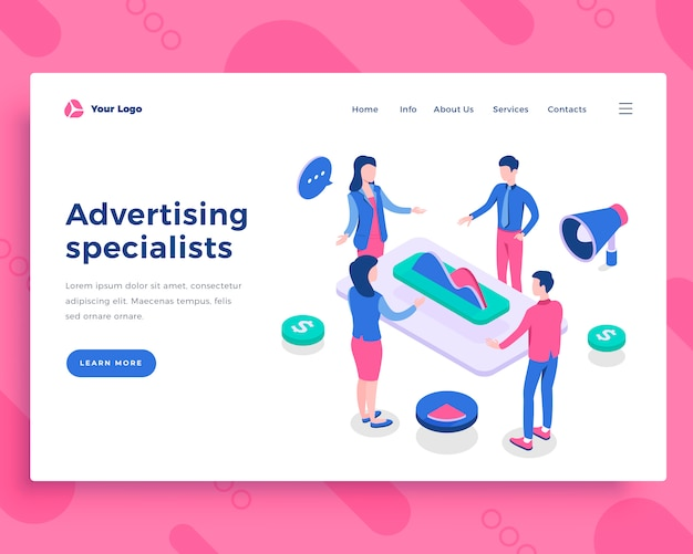 Advertising specialists concept