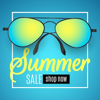 Advertising web banner for summer sale.
