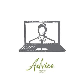 Advice illustration in hand drawn