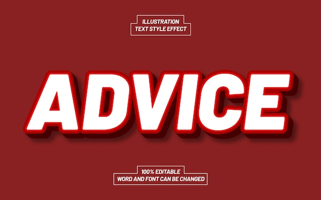 Advice text style effect