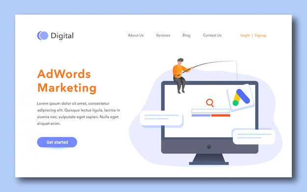 Adwords marketing landing page