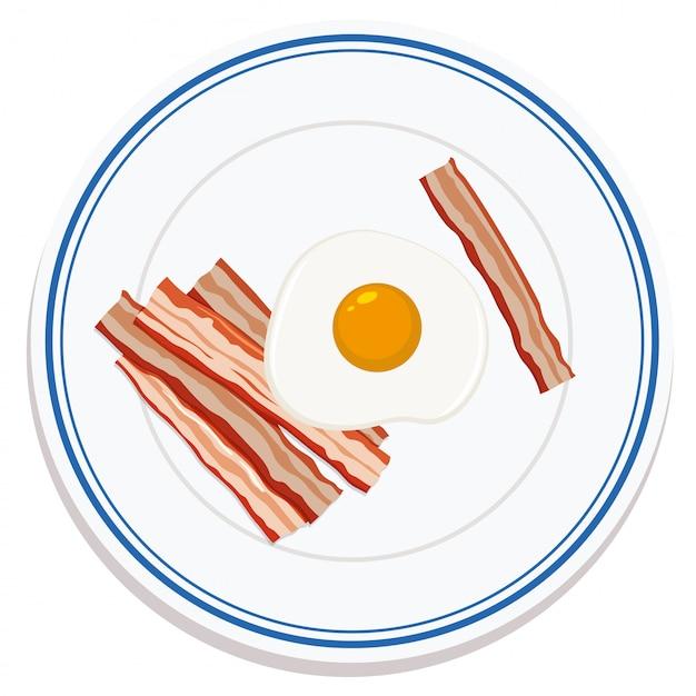 Вид с воздуха на еду на тарелке