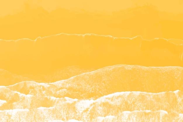 Aerial view of an orange beach