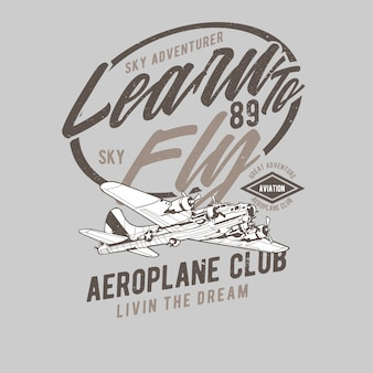 Aeroplane hand drawing vector
