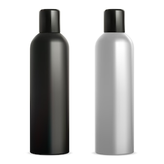 Aerosol can. deodorant spray . aluminum bottle for hairspray, realistic black and white template